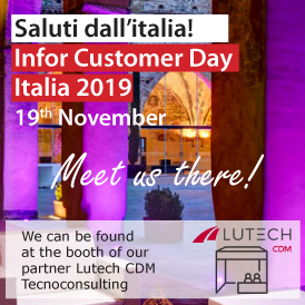 Meet us at Infor Customer Day 2019, 19th of November